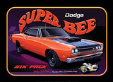 Dodge Super Bee Six Pack Car Tin Sign