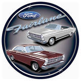 Ford Fairlane Cars Round Tin Sign