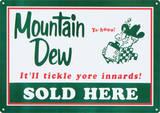 Mountain Dew Soda Sold Here Plakietka emaliowana