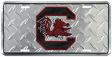 Carolina Gamecocks Diamond License Plate Tin Sign