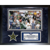 Marion Barber Dallas Cowboys Mini Turf Collage Framed Memorabilia
