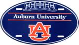 Auburn Oval License Plate Tin Sign