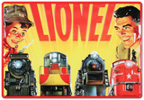 Lionel Trains Father and Son Cartel de chapa