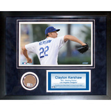 Clayton Kershaw Mini Dirt Collage Framed Memorabilia