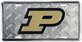 Purdue Diamond License Plate Tin Sign