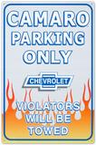 Chevrolet Chevy Camaro Car Parking Only Blikskilt