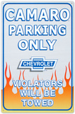 Chevrolet Chevy Camaro Car Parking Only Tin Sign
