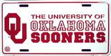 University of Oklahoma Sooners License Plate Tin Sign