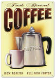 Fresh Brewed Coffee Tin Sign