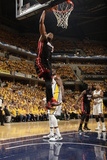 Indianapolis, IN - May 24: Miami Heat and Indiana Pacers - Dwyane Wade Photographic Print by Ron Hoskins