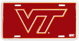 Virginia Tech License Plate Cartel de chapa