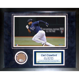 Carl Crawford Mini Dirt Collage Framed Memorabilia