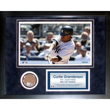 Curtis Granderson Mini Dirt Collage Framed Memorabilia