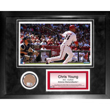 Chris Young Mini Dirt Collage Framed Memorabilia