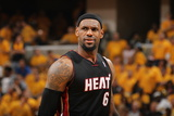 Indianapolis, IN - May 24: Miami Heat and Indiana Pacers - LeBron James Photographic Print by Nathaniel S. Butler