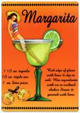 Margarita Drink Recipe Sexy Girl Plaque en métal