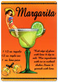 Margarita Drink Recipe Sexy Girl Tin Sign