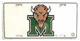 Marshall University License Plate Tin Sign