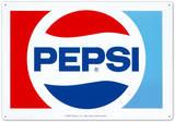 Pepsi Cola Classic 1970 Logo Plaque en métal