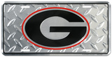 University of Georgia Diamond License Plate Tin Sign