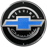 Genuine Chevrolet Chevy Round Tin Sign