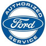 Authorized Ford Service Round Plakietka emaliowana