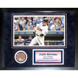 Justin Morneau Mini Dirt Collage Framed Memorabilia