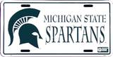 Michigan State Spartans License Plate Tin Sign