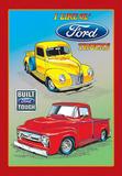I Like Old Ford Trucks Pickup Tin Sign