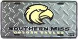Southern Miss Golden Eagles License Plate Blikskilt