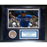 Carlos Zambrano Mini Dirt Collage Framed Memorabilia