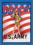 US Army Ready Soldier Sexy Girl Plakietka emaliowana