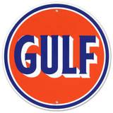 Logo rond d'une station-service Gulf  Plaque en métal
