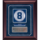 Yogi Berra Retired Number Monument Park Brick Slice Collage w/ Nameplate Framed Memorabilia