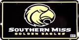 Southern Miss License Plate Tin Sign