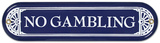 No Gambling Znak ścienny
