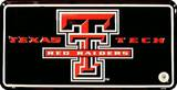 Texas Tech License Plate Tin Sign