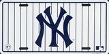 NY Yankees Stripe License Plate Plaque en métal