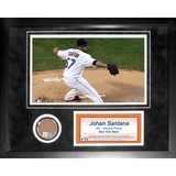 Johan Santana Mini Dirt Collage Framed Memorabilia