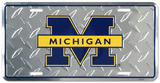 University of Michigan Diamond License Plate Tin Sign