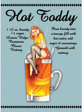 Hot Toddy Drink Sexy Girl Plaque en métal