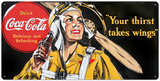 Drink Coca Cola Coke Aviator Woman Your Thirst Take Wings Tin Sign
