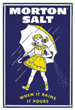 Morton Salt 1956 When It Rains It Pours Wall sign