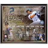 Derek Jeter 3,000th Hit Time Line Collage Framed Memorabilia