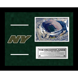 Jets Meadowlands Arial Overhead Turf Collage Framed Memorabilia