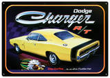Dodge Charger R/T Car Plaque en métal