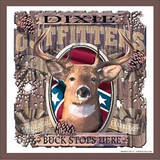 Dixie Outfitters Buck Stops Here Deer Hunting Tin Sign