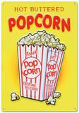 Popcorn sucré Plaque en métal