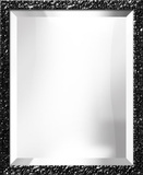 Black Lacquer Portrait Mirror Espejo decorativo