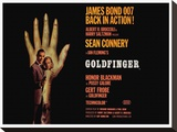 Goldfinger-Hand Stretched Canvas Print